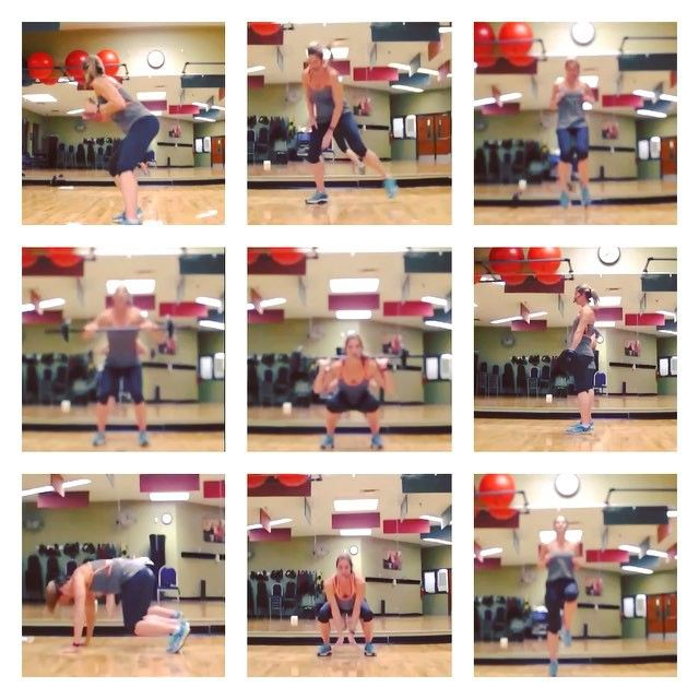 Monday Cardio!! Complete each exercise for 30 seconds  Repeat each block X 3  Block 1: Side lunge tap floor (video 2) Shuffle Burpee (video 1) Squat hop turn 180° (not shown) 4 heels 4 knee (video 3) 4 Jack's run up run back (video 3)  Block 2: Clean (video 4) Clean & Press (video 4) Squat (video 5)  Squat thruster (video 5) Deadlift Burpee (video 6)  Block 3: Pike jumps (video 7) Mountain Climbers (video 7) Squat Jumps (video 8) Knee knee foot foot (video 8) 8 high knees 2 tuck jumps (video…