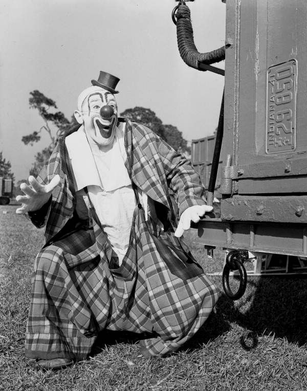 Florida Memory - Ringling Circus clown Lou Jacobs in Sarasota, Florida.