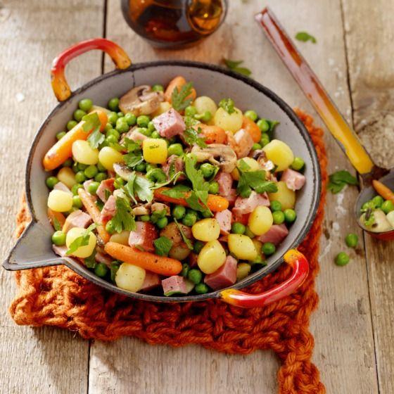 Lauwwarme boerensalade met Brabantse ham