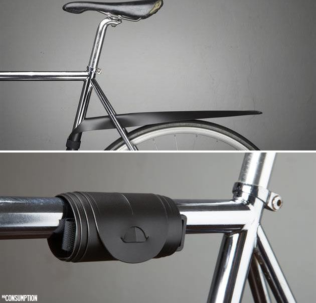 MUSGUARD Rollable Bicycle Fender - For more great pics, follow www.bikeengines.com