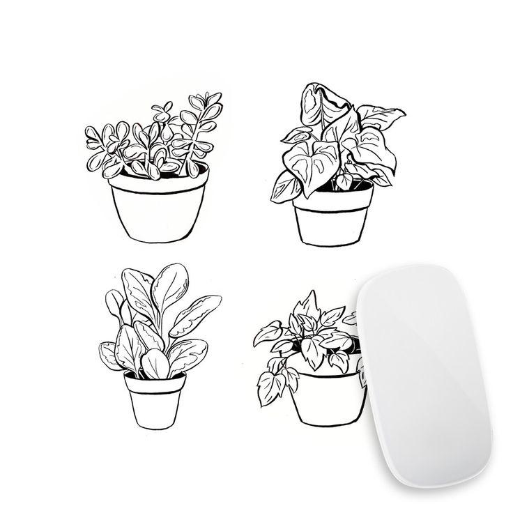 Desk Plants Mouse Pad Decal