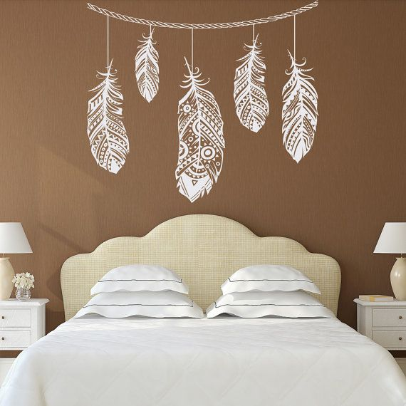 Feather Wall Decal  Feather Decor  Bohemian Bedroom Decor  Boho Bedroom  Decor  Tribal Pattern  Forest Wall Decal  Wall Decal Bedroom 100. Best 25  Bohemian bedroom decor ideas on Pinterest   Hippy bedroom