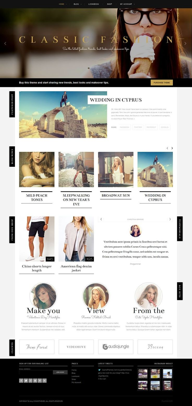 Thank you for choosing CosmoThemes and purchasing one of our Premium WordPress Themes – your choice is greatly appreciated!
