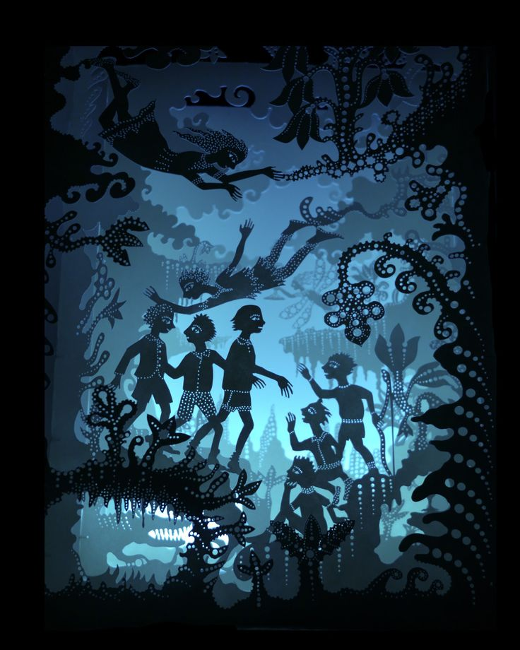 The Island Come True (Peter Pan tunnel book) :: Andrea Dezsö.