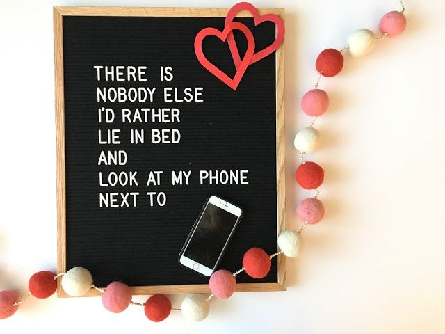 funny valentines day quote for a letterfolk board