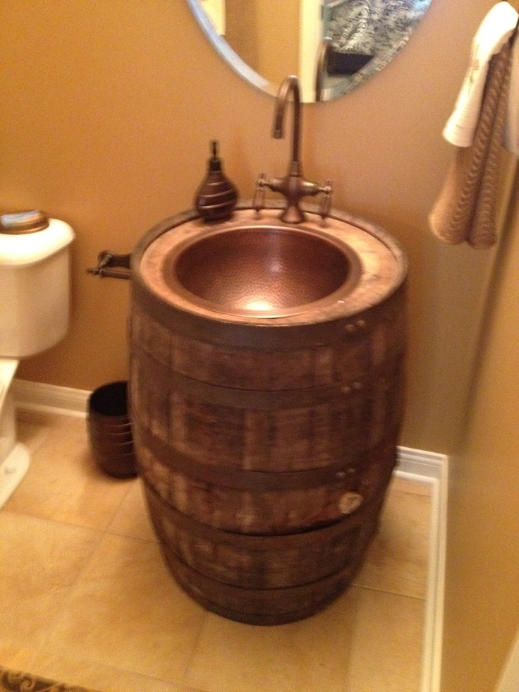 already made a bourbon barrel end table, now its time to make one of these sinks!!