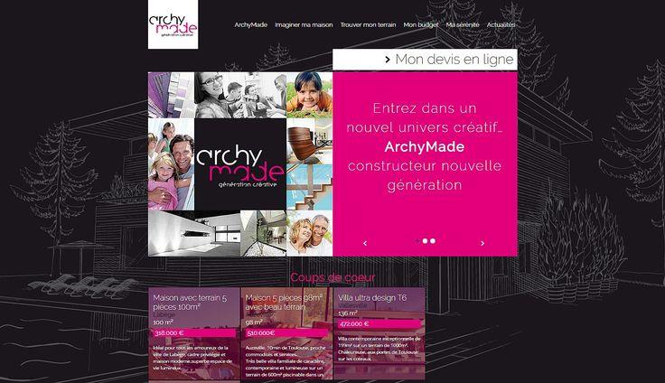 Site web ArchyMade Votre constructeur de maisons individuelles
