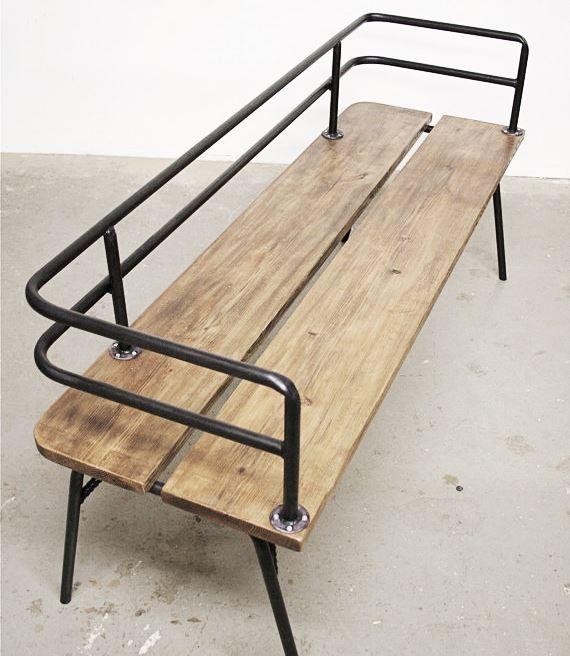 vintage, industrial bench http://sturbock.me/w80