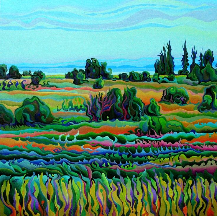 Summer Meadow Dance  24 x 24  Acrylic on Canvas