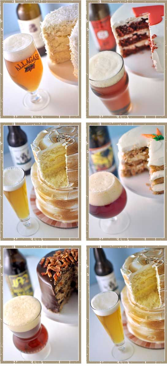 Pairing craft beer and wedding cakes