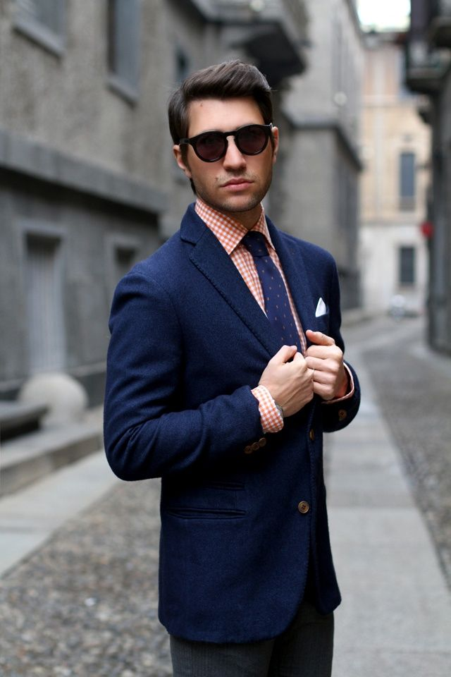 17 best images about blue suit on pinterest navy suits for Navy suit checkered shirt
