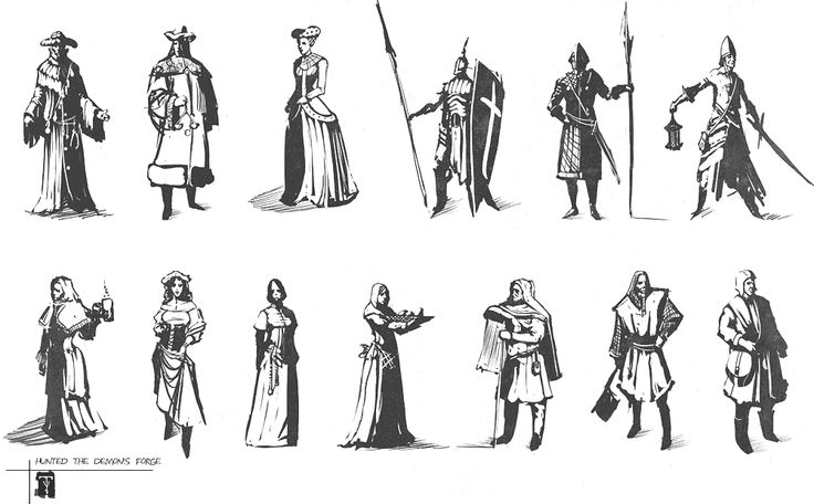 Character Design Forge : People sketches hunted the demon s forge art pictures