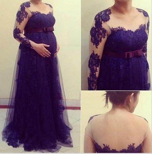 Find More Evening Dresses Information about Vimans A Line Elegant Maternity…