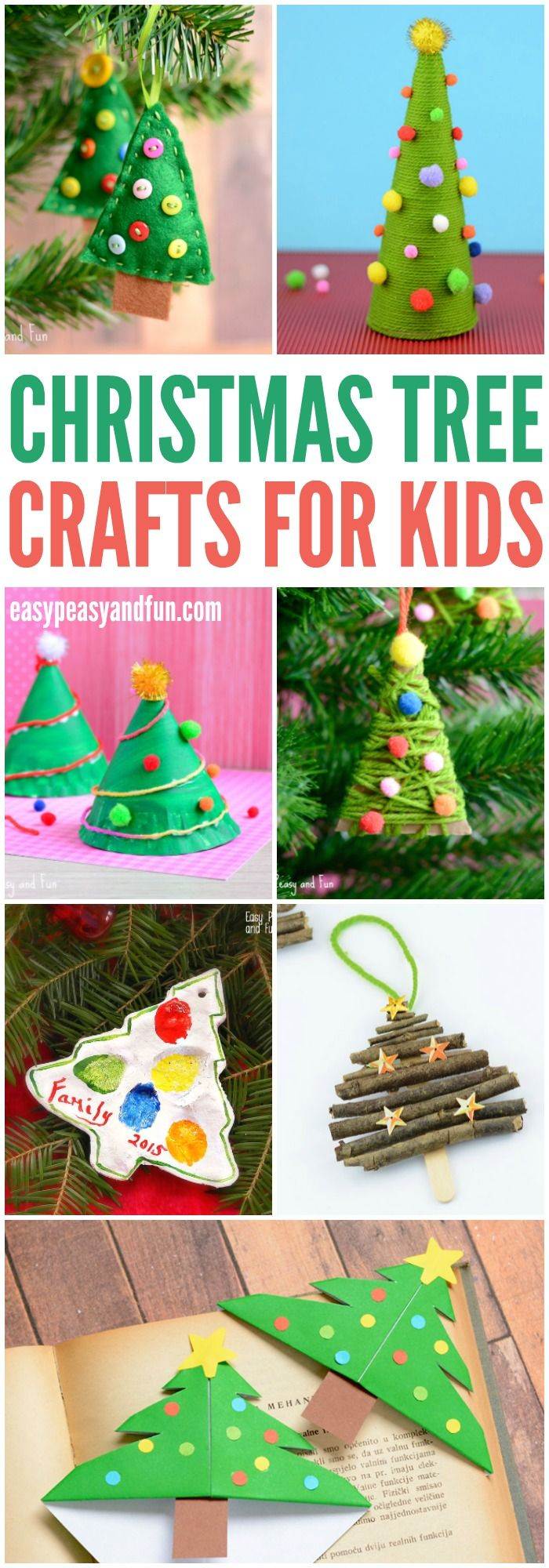 Cute Christmas Tree Crafts for Kids to Make