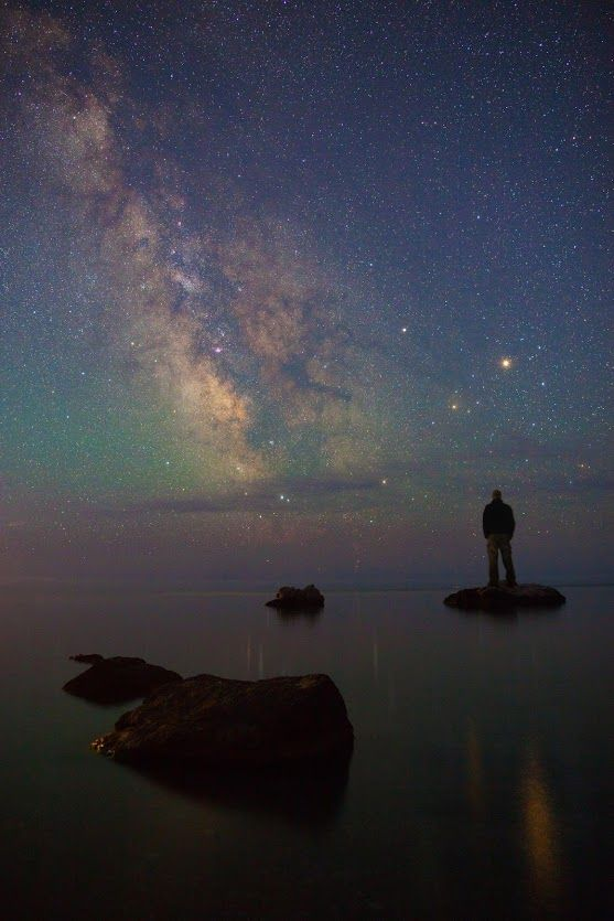 The Milky Way sinking into the Black Sea | The Black Sea is a body of water in Southeastern Europe, bounded by Bulgaria, Georgia, Romania, Russia, Turkey, and Ukraine. It is supplied by a number of major rivers, such as the Danube, Dnieper, Rioni, Southern Bug, and Dniester. The Black Sea has an area of 436,400 km2 (168,500 sq mi) (not including the Sea of Azov), a maximum depth of 2,212 m (7,257 ft), and a volume of 547,000 km3 (131,000 cu mi).