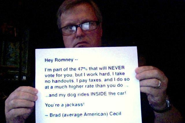 Message to Mitt Romney from the 47 Percent