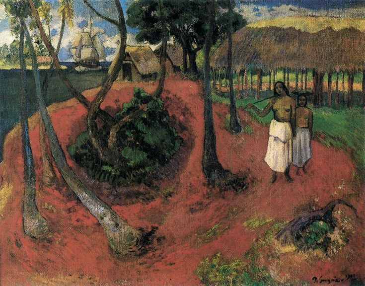 Idyll in Tahiti 1901 Oil on canvas, 75 x 95 cm Private collection
