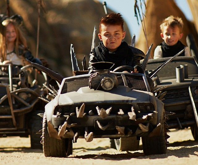 Let your kids traverse the post apocalyptic world with their little adorable gang of violent anarchists using these Mad Max Power Wheels cars. They're perfect for elaborate adrenaline pumping car chases filled with large explosions and dangerous vehicular stunts.