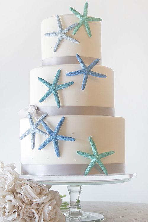 6 Beautiful Beach Wedding Cakes Decorated with Shells & Sea Life   Brides.com