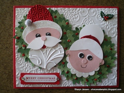 Love this Santa made with Stampin Up products! Sharyn's Stamp Biz: A Happy Couple.