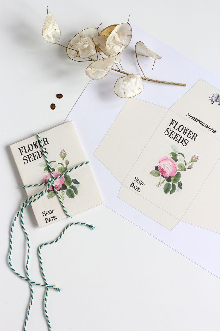 Free printable Vintage style seed envelopes.