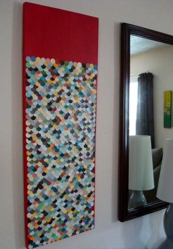 paint chips: Canvas Ideas, Wall Art, Diy Art, Paintings Chips Art, Fish Scale, Chips Diy, Diy Projects, Art Projects, Paintings Samples