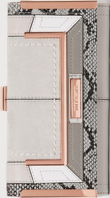 •Website: http://www.cuteandstylishbags.com/portfolio/river-island-grey-snake-print-panel-clip-top-purse/ •Item: River Island Grey Snake Print Panel Clip Top Purse