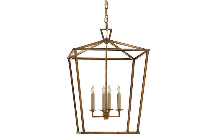 Darlana Lantern - Gilded Iron - Visual Comfort & Co. - Small