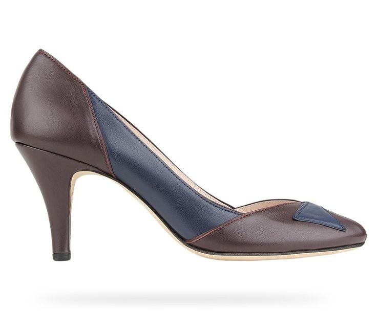 Low Cut Pump Sarah Chofakian Galloping Brown and Classic Blue Nappa  Calfskin and Lamskin by Repetto · Collection De ChaussuresChaussures ...