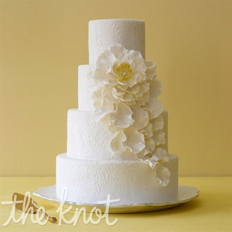 White Sugar Flower CakeWhite Cake, White Flower, Sugar Flower, White Sugar, White Wedding Cake, Flower Cakes, Cake Ideas, Wedding Cakes, Simple Cake
