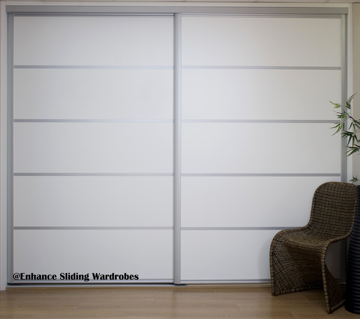Extra wide white sliding doors with chrome straps ensuite for Extra wide sliding glass doors