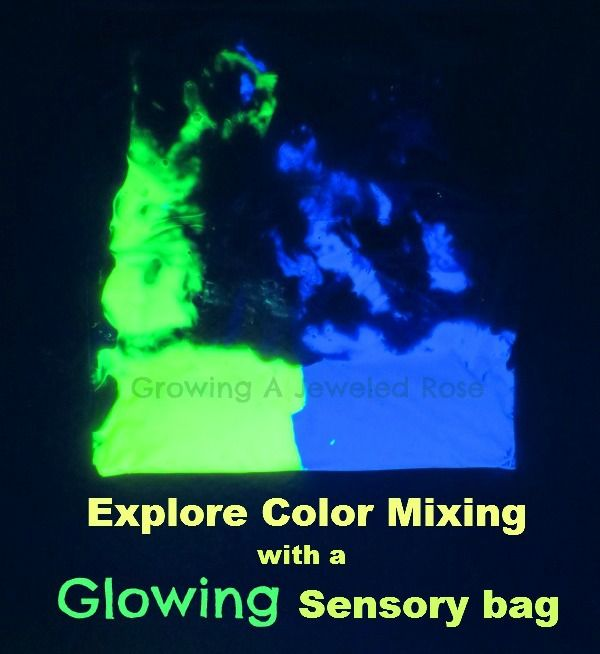 Glowing Sensory Bag Play - Growing a Jeweled Rose