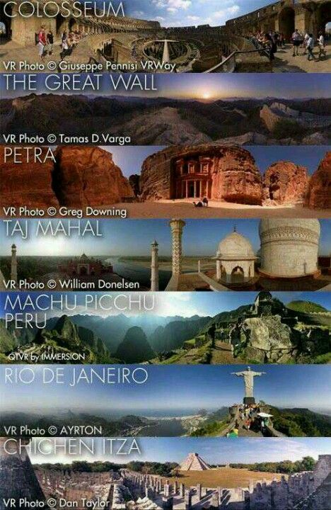 De 7 wereldwonderen have to see them all before I die
