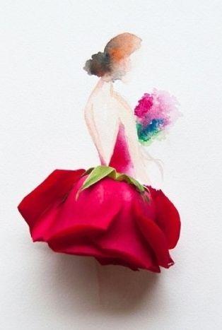 꽃잎으로 만든 예술 ~ 아름다움의 극치! 꽃잎 드레스 : 네이버 블로그