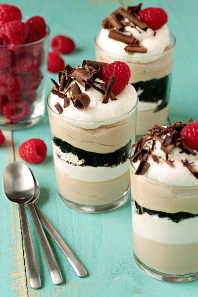 Easy Tiramisu Trifles; My Baking Addiction.