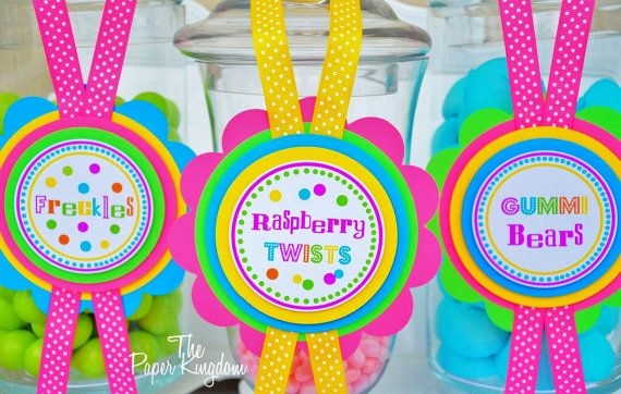 Candy Buffet Labels Deluxe Dessert Buffet Tags by thepaperkingdom, $15.00