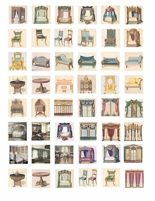 VINTAGE victorian furniture windows canopy by VellasCollageSheets