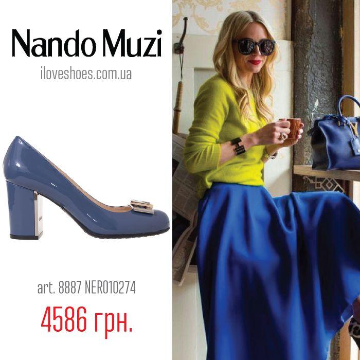 Голубые туфли универсальны в том плане, что одинаково хорошо подходят как ярким нарядам, так и нейтральным костюмам, а голубой цвет ассоциируется с морем и морским побережьем. Представляем вашему вниманию туфли торговой марки Nando Muzi из лакированной кожи голубого цвета. Высота каблука 8 см. Закругленный носок. Туфельки «Made in Italy» доступны в размерах 36, 38, 40 Сегодня эту красоту можно купить за 4586 грн. (вместо 10920 грн.)