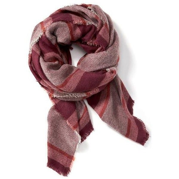 Old Navy Oversized Flannel Scarf ($23) ❤ liked on Polyvore featuring accessories, scarves, pink, plaid shawl, old navy, old navy scarves, tartan plaid scarves and plaid scarves