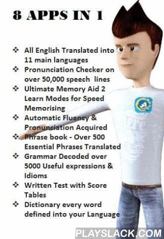 """Learn English - Sing2learn  Android App - playslack.com , Learn English Speak English Write English with Sing2Learn The only App that Translates into 12 different languages with 90% accuracy; TEFL approved. Featured on """"What's on Iphone"""" """".. one of the most fun and worthy language apps I've checked"""" (Brendan E Martin 12.9.14) see full article http://www.whatsoniphone.com/sing2learn-review-natural-way-learn-english-foreigners/ . """"University of Edinburgh indicates that…"""