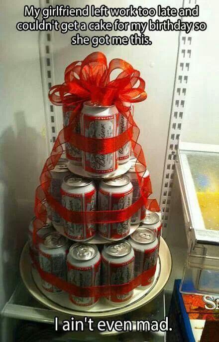 Gâteau d'anniversaire pour son homme
