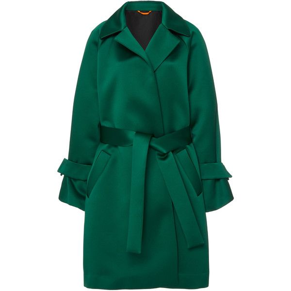 Marta Bell Sleeve Coat   Moda Operandi ($1,180) ❤ liked on Polyvore featuring outerwear, coats, tie belt and blue coat
