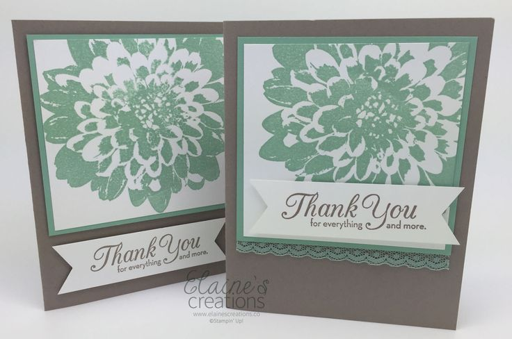 by Elaine: Definitely Dahlia and One Big Meaning - all from Stampin' Up!