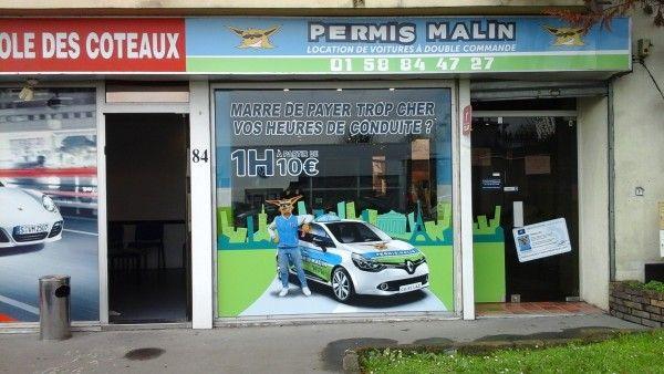 Permis Malin Noisy-Le-Grand : Location de véhicules double commande 84 Avenue Emile Cossonneau 93160 Noisy Le Grand    01.58.84.47.27