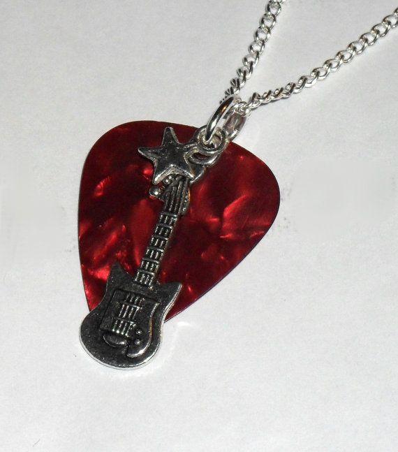 rock star guitar pick necklace. Black Bedroom Furniture Sets. Home Design Ideas