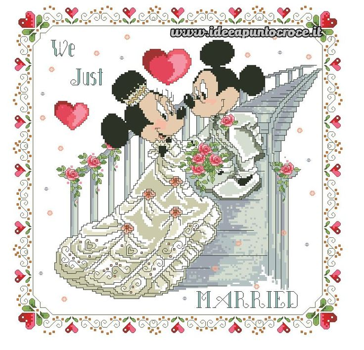 Just Married Mickey & Minnie 1 of 3