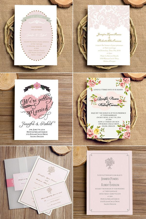 """Top 10 Pink Blush Wedding Invitations with Free RSVP Cards// Use coupon code """"CVB"""" to get 10% off towards all the invitations. #elegantweddinginvites"""