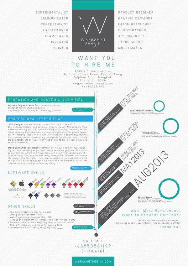 my 2013 resume by worachet deeyai via behance