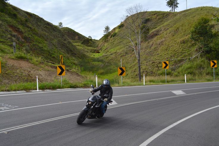 CFMoto 650NK on the Mt Lindesay Highway