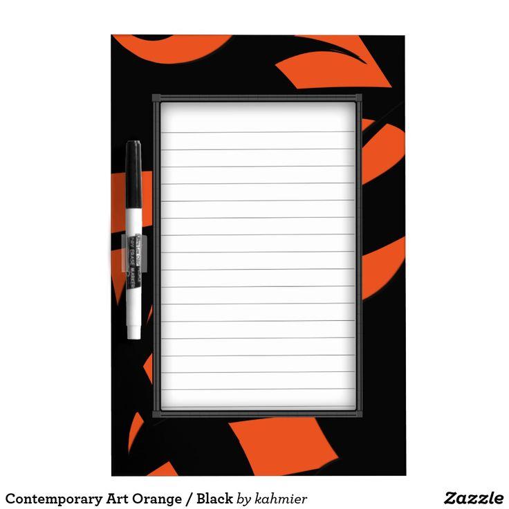 Contemporary Art Orange / Black Dry Erase Board #messageboard #office